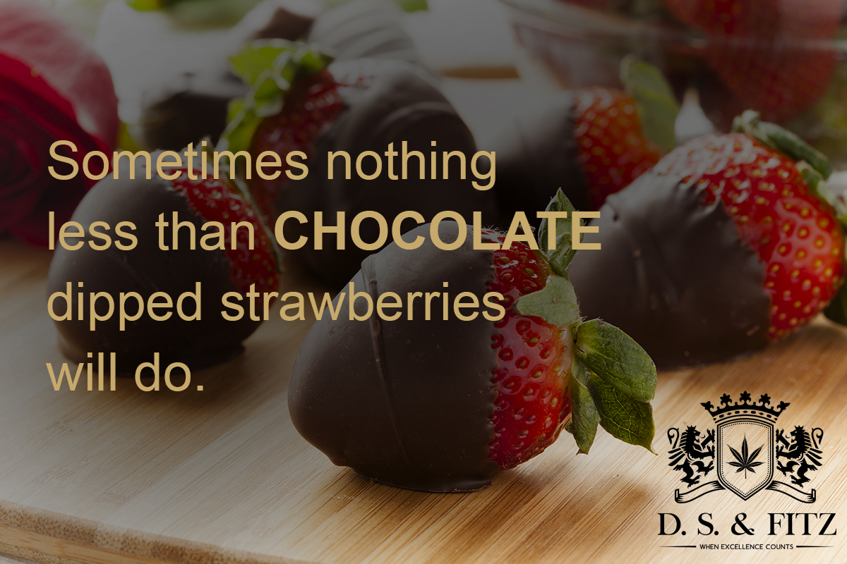 Cannabis Infused Chocolate Dipped Strawberries – D.S. & FITZ